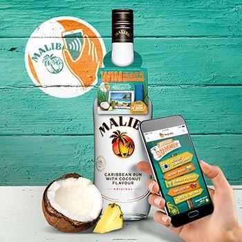 Malibu rum unveils 'connected' bottles