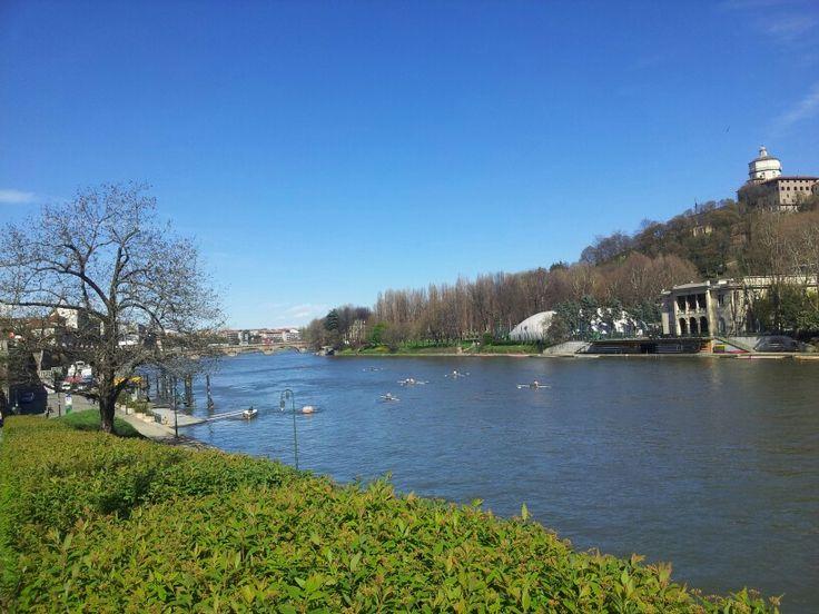 Passeggiare lungo il #Po il #fiume di #Torino