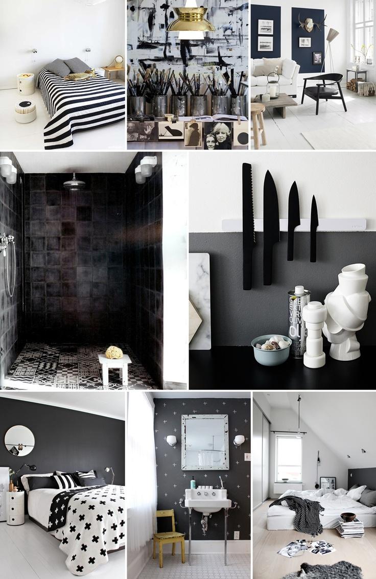 black and white all over  #interiors #blackandwhite #homedecor