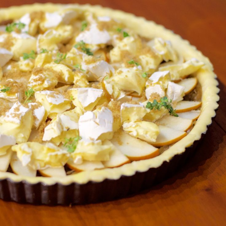 Caramelised Onion and Pear Tart