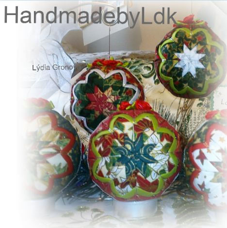 Christmas ornament xmas ornament Quilted Ornaments Pattern  by HandmadebyLdk