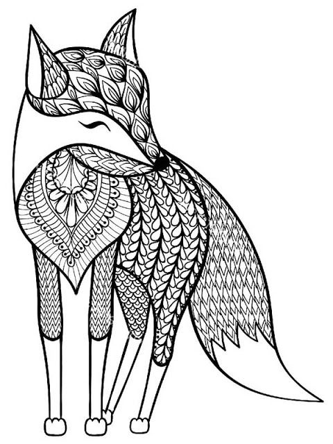 43 best images about animals coloring pages for adults on for Free printable wolf coloring pages