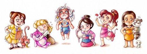 Disney babies3 disney princess fan art
