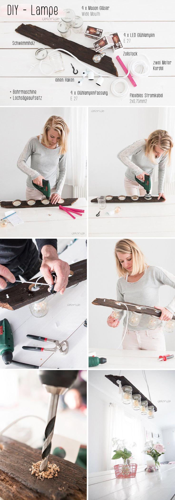 Selbstgemacht essbereich esstisch tutorial anleitung for Esstisch lampe selber bauen