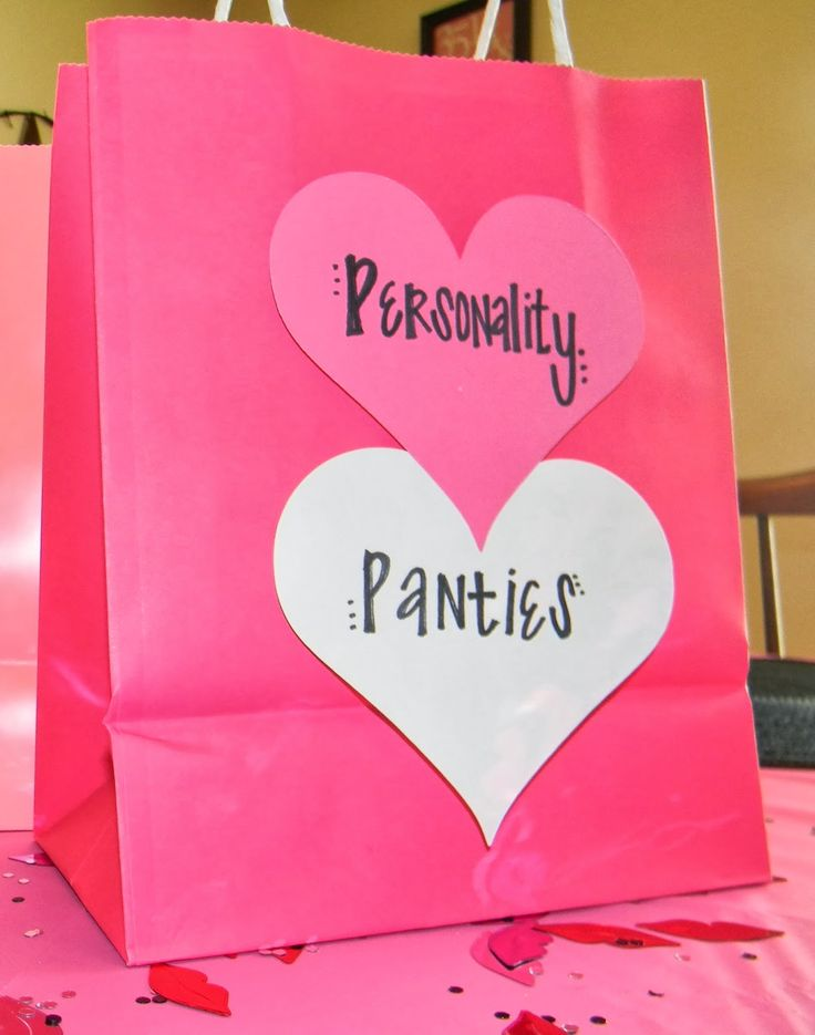 Guests bring a pair of panties as a gift to the bride that they feel matches their own personality. The bride has 3 guesses to figure out who brought them!