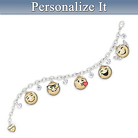 A Message Of Love Granddaughter Emoji Bracelet