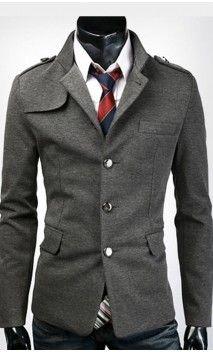 Mens Modern Slim Fit Jacket with Shoulder Detail