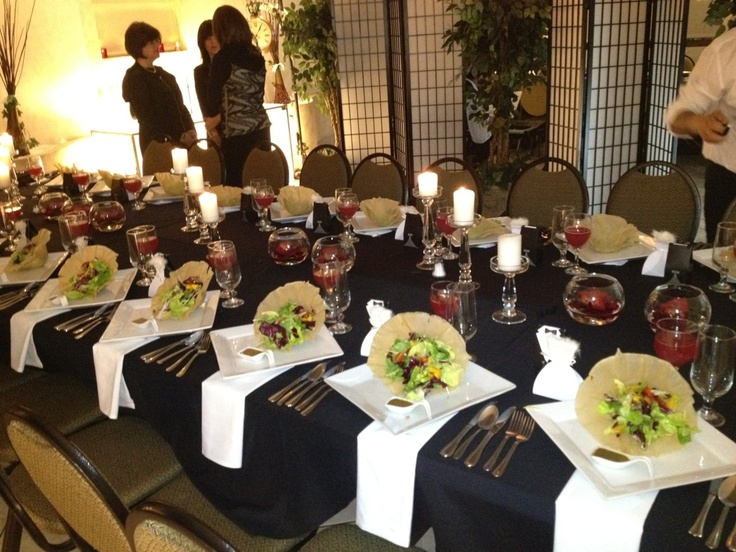 Family style event, with amazing salad served in edible bowls
