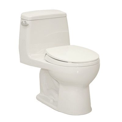 Toto UltraMax Eco 1.28 GPF Round 1 Piece Toilet with SoftClose Seat & Reviews   Wayfair