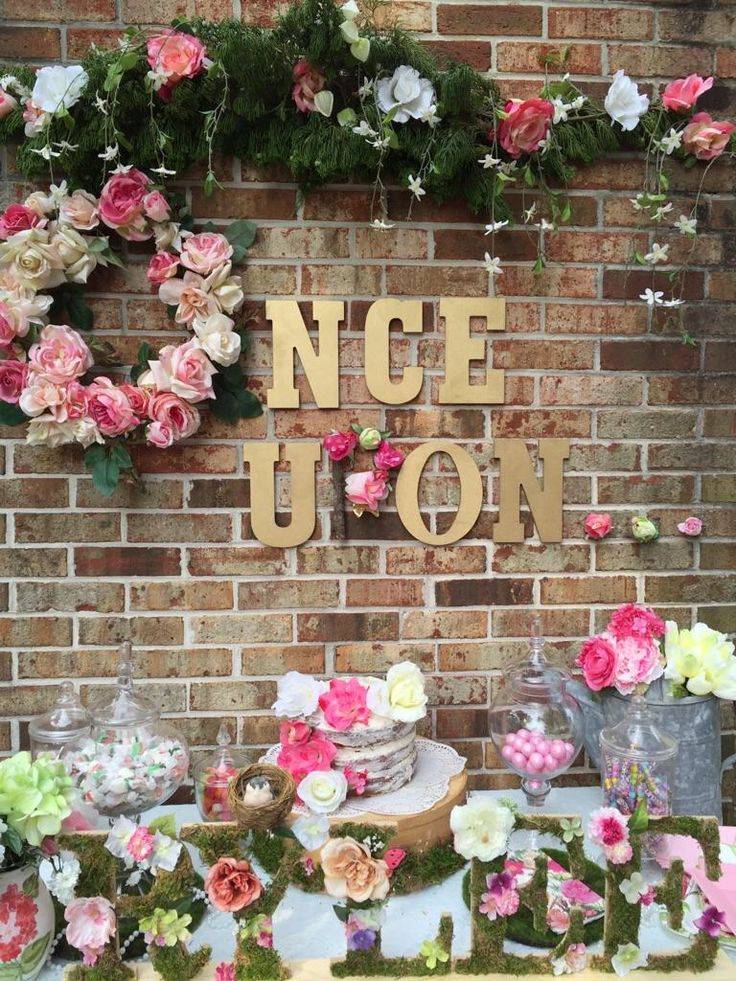 Once Upon A Time outside wall. Tea Time Baby Shower by