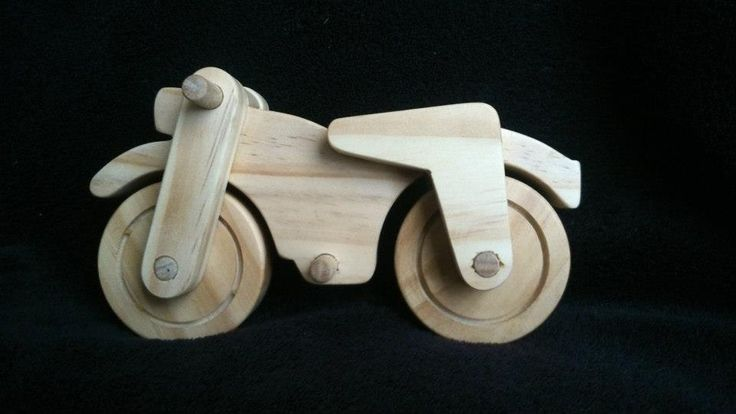 This Motorbike is made from cyprus pine and hardwood wheels.