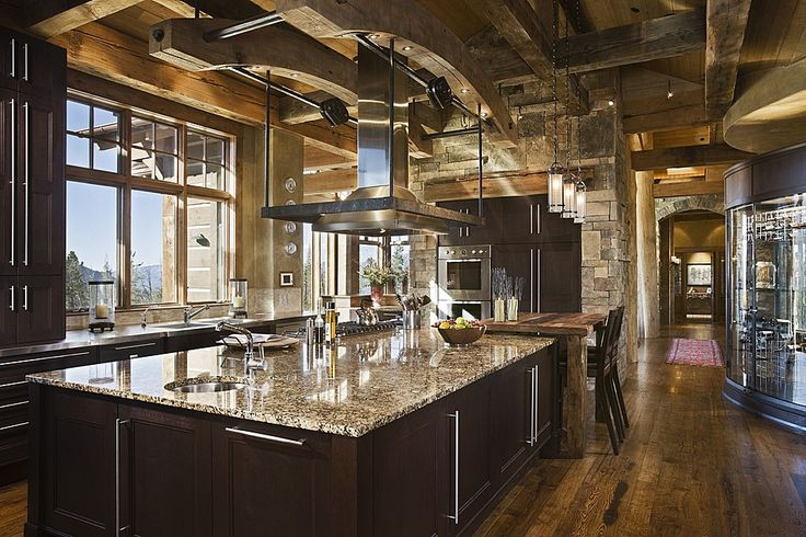 Exposed Beams Rustic Kitchens And Beams On Pinterest