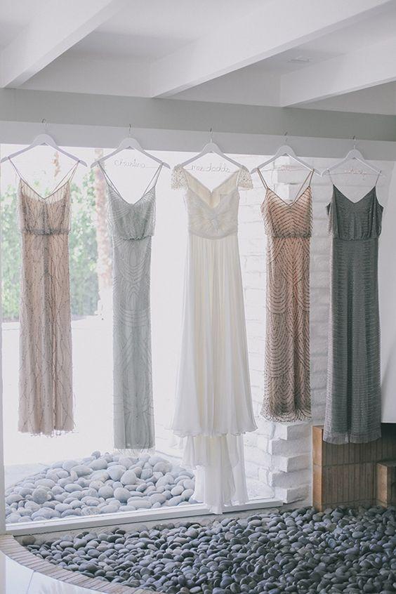 vintage glitter bridesmaid dresses / http://www.himisspuff.com/bridesmaid-dress-ideas/15/
