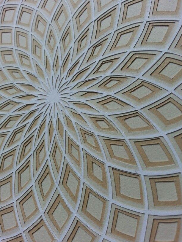 Geometric Paper Cutting. Close-up.