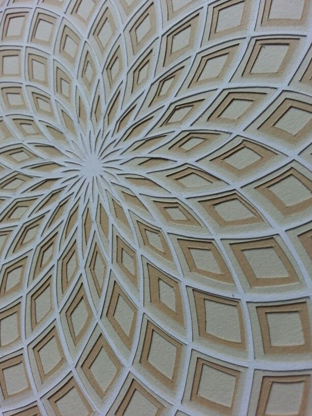 Geometric Paper Cutting. Close-up.