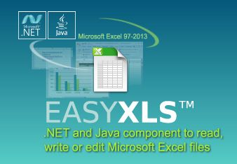 http://www.easyxls.com    EasyXLS™ is the best .NET and Java component to read, write or edit Microsoft Excel files