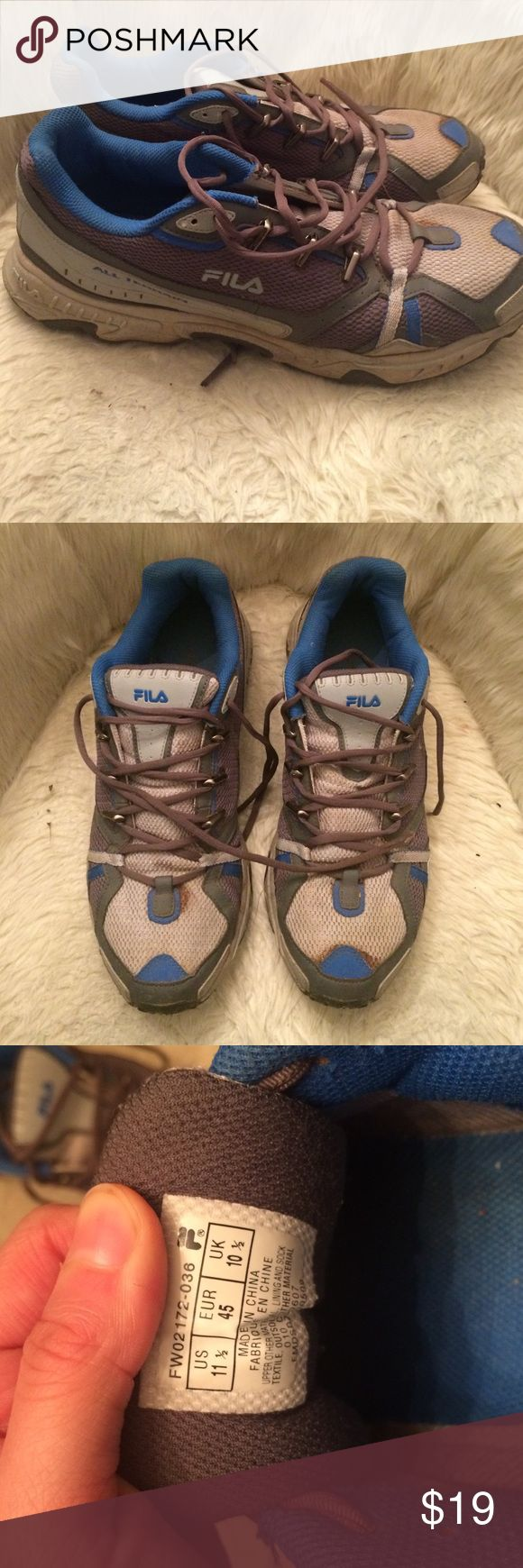Fila Men's Athletic Sneakers In blue and silver. All Terrain style. Fila Shoes Sneakers
