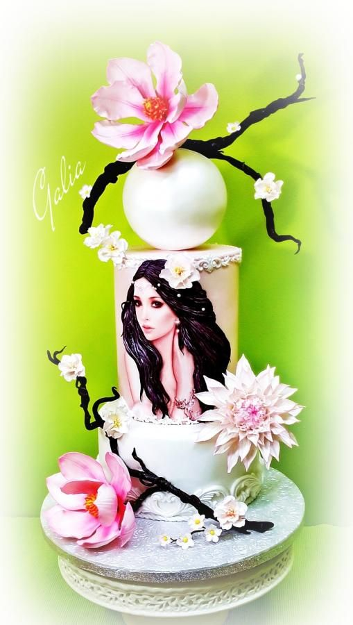 GIRL WITH MAGNOLIAS - Cake by Galia Hristova – Art Studio