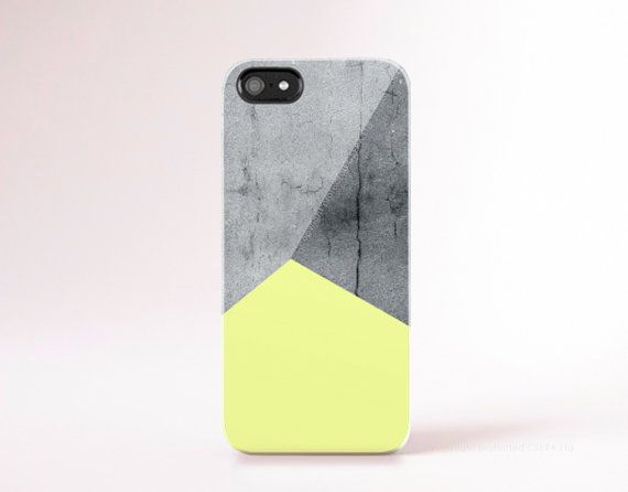 Pastel Yellow iPhone 6 case Cool iPhone 5 case Hipster iPhone case Contrete Print iphone 5c case Yellow geometric Gadget Cases Color Block
