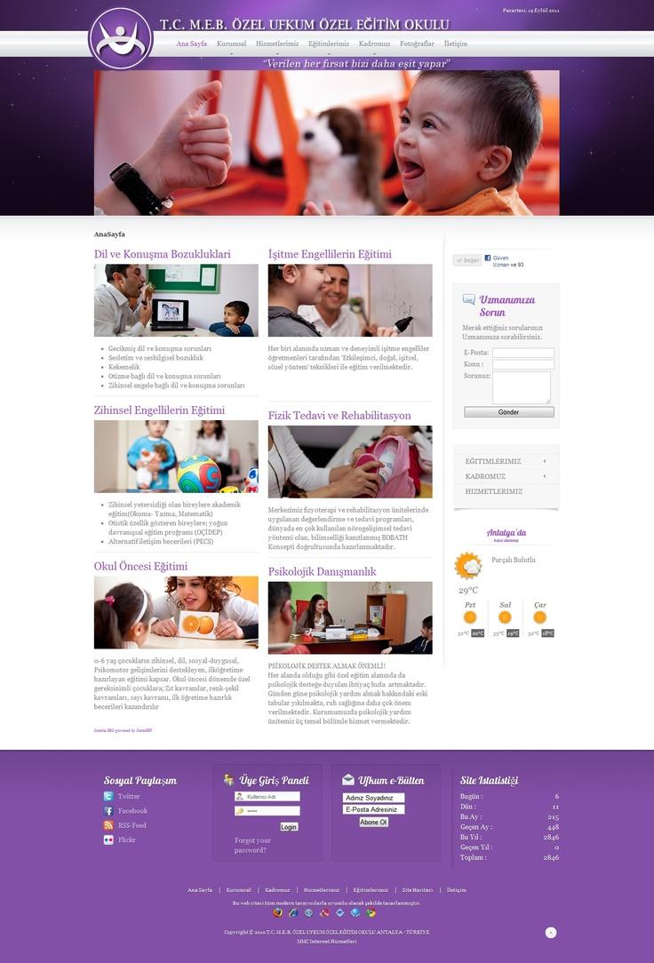 Ufkum Special Education School Webdesign