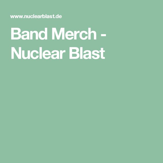 Band Merch - Nuclear Blast