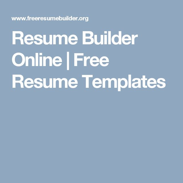 Best 25+ Free online resume builder ideas on Pinterest Online - free online resume templates for word
