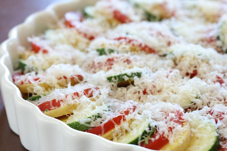 Vegetable Tian via DeliciouslyOrganic.net     This looks very pretty and sounds like a great veggie recipe. Can't wait to make it!!