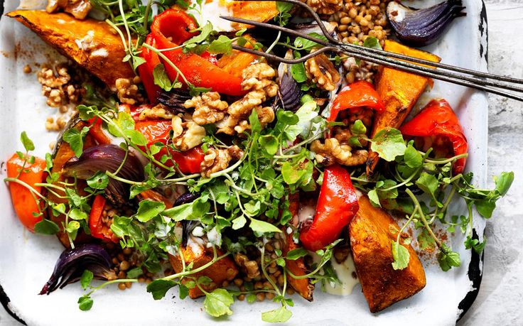 Lebanese roasted pumpkin salad recipe - By Australian Women's Weekly, Looking for delicious and healthy vegetarian dinner ideas? Then don't go past this wholesome Lebanese roasted pumpkin salad - a tasty and nutritious crowd-pleasing dish!