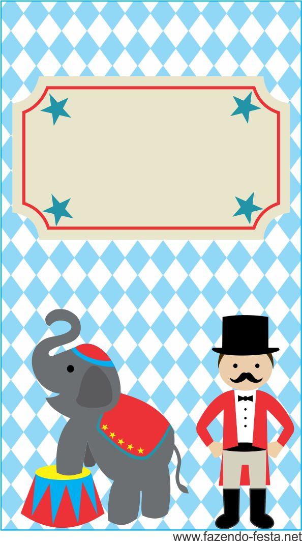 kit festa circo giz