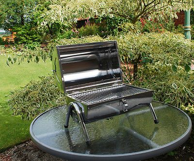 Portable #tabletop stainless steel barbeque bbq #folding double grill #camping,  View more on the LINK: 	http://www.zeppy.io/product/gb/2/371665050574/
