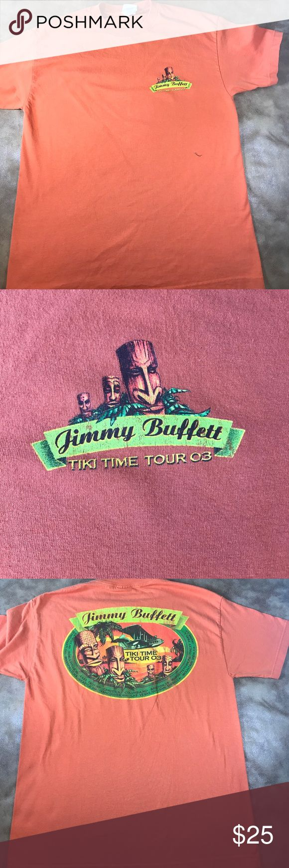 Jimmy Buffett 2003 Tiki Time Tour,  size L Jimmy Buffett tiki time tour 2003 concert T shirt size large.Shirt is in good condition. Thanks for visiting my closet! Shirts Tees - Short Sleeve