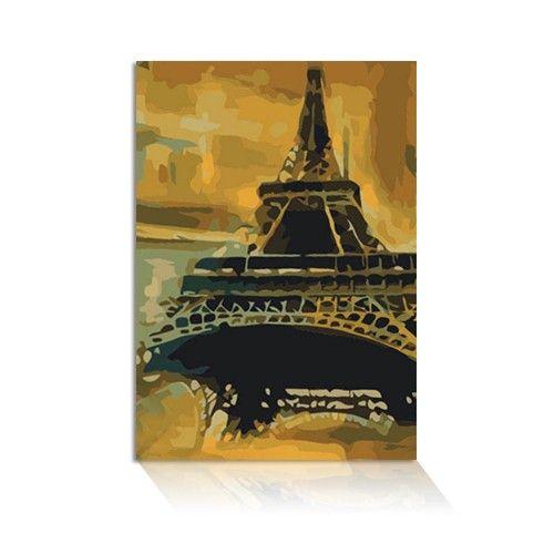 Für alle Malen-nach-Zahlen-Fans halten wir die richtigen Motive bereit. Berühmte Bauwerke, wie hier der Eifelturm etc. 40 x 50 cm Leinwand.