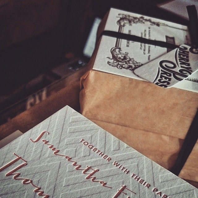 For rustic-themed stationary try Cherry Press. #cotswoldwedding #wedding
