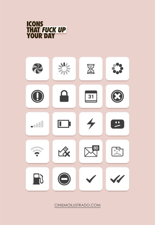 Graphic designer? These are Icons that fuck up your day.