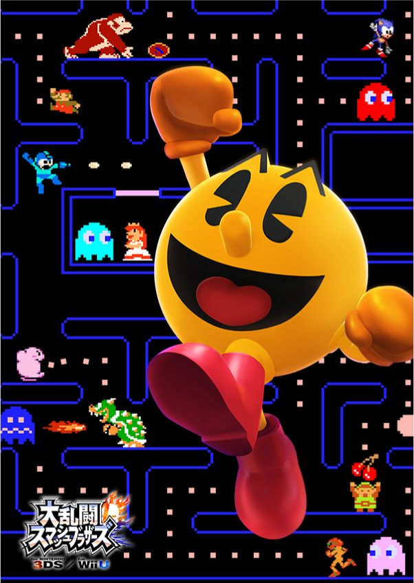 Super Smash bros. in Pac-Man. I know Sonic, that you hate Pacman stages...