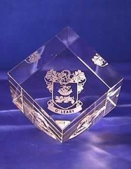 Crystal Cube Coat of Arms €23.00