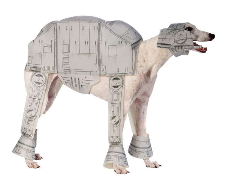 Amazon.com: Rubies Costume Star Wars Collection Pet Costume, X-Large, At-At Imperial Walker: Pet Supplies - poor dog!