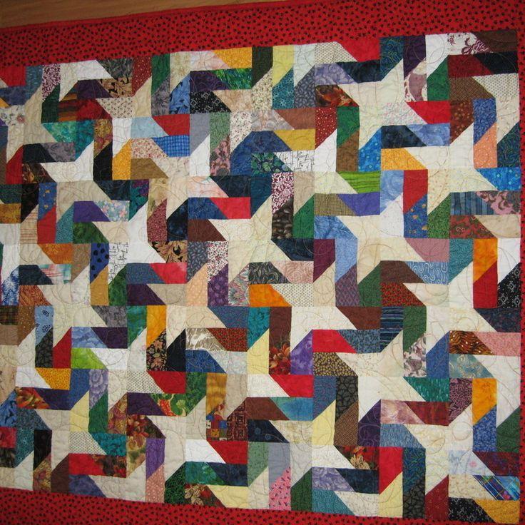 17 Best Images About Scrappy Batik Quilts On Pinterest