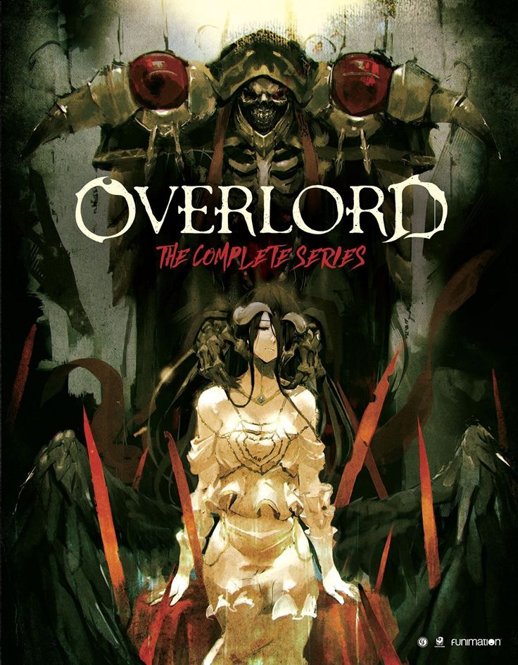 Overlord: The Complete Series Blu-ray with Ainz Oown Goal & Albedo on the front cover.