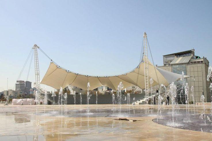 Abo Atash Amphitheater-Tehran Pars, Tehran, Iran: #Membrane construction #design, #Steel construction design Maffeis Engineering