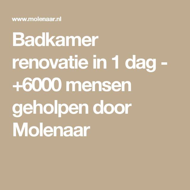 Badkamer renovatie in 1 dag - +6000 mensen geholpen door Molenaar