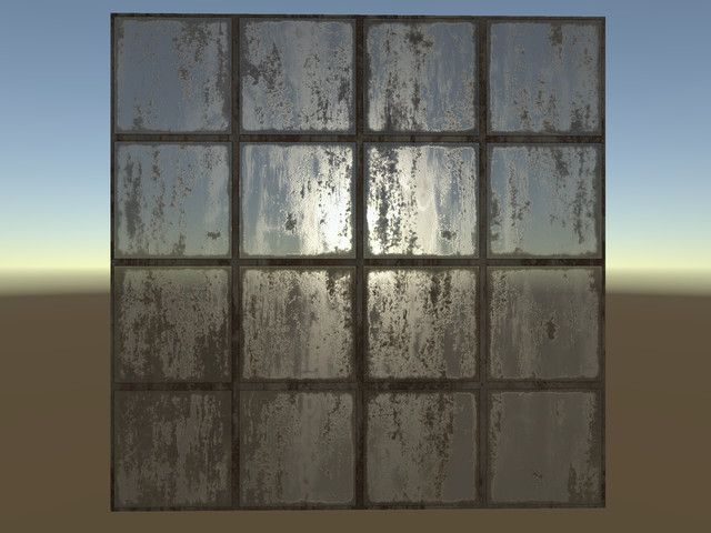 Glass Window  All textures come as TGA 1024x1024, have Albedo with built-alpha map , Normal, Ambient Occlusion & Spec maps, and all textures are tileable (seamless). All textures have rust and damage version