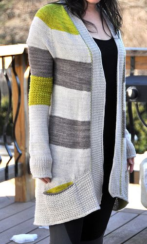 Grey Yellow Sand ❤️ knitted cardigan P 4-5 mm