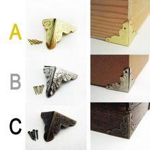 12X Decoratieve Antieke Messing Golden Zilverkleurige Sieraden Wijn Geschenkdoos Houten Case Borst Edge Cover Hoek Protector Guard 25mm + nagels(China)