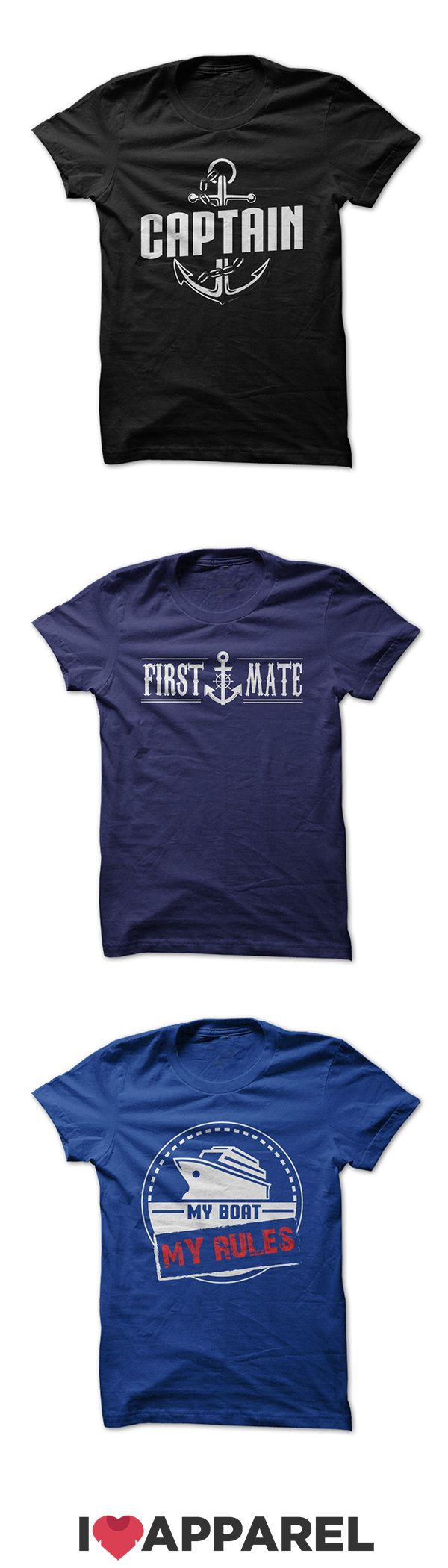 Boating t-shirts, women's fit t-shirts and hoodies made just for those who love spending time on the water. Check out the variety of colors today at ILoveApparel.com.