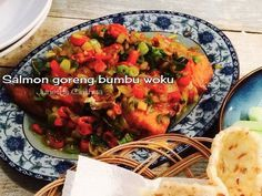 Salmon goreng bumbu woku