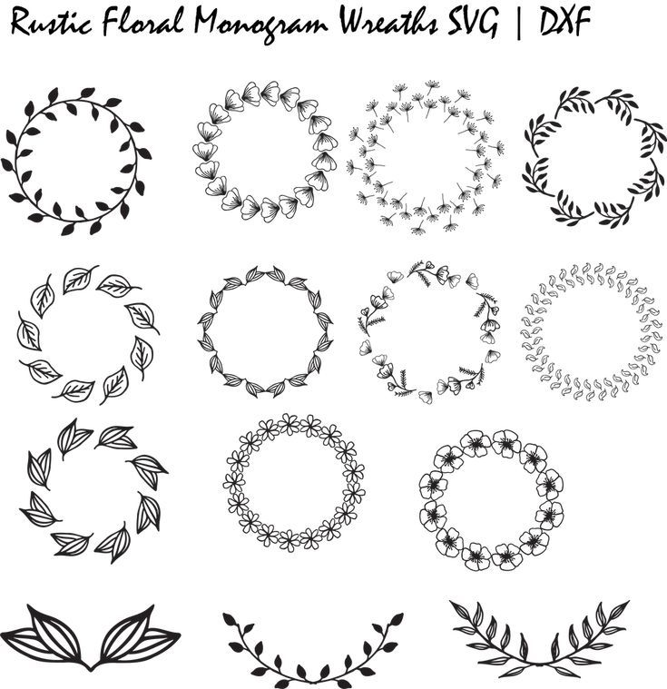 wreath template free svg # 6