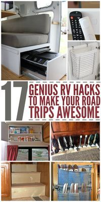 17 RV Living DIY Tips to Make Your camping Road Trips Awesome