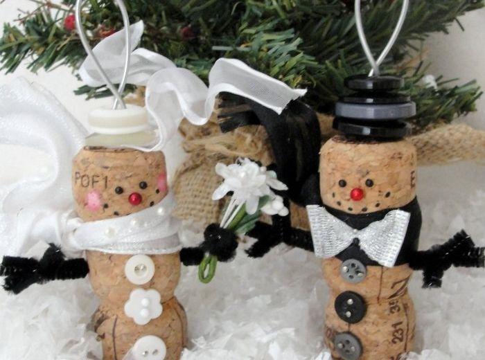 manualidades navidad adornos corcho boda navidena ideas