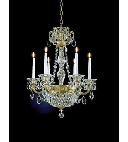Schonbek 5076-22 La Scala Empire 8 Light 21 inch Heirloom Gold Chandelier Ceiling Light in Clear Heritage photo
